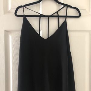 Plunge Cami Top w/ Strappy Back